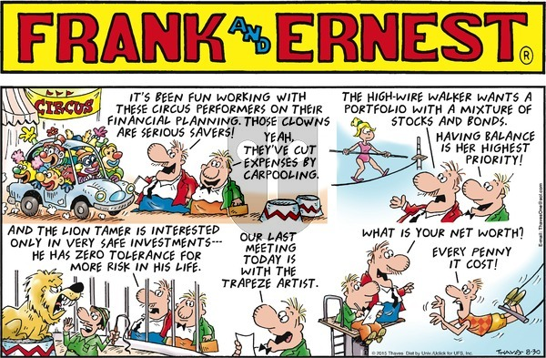 Frank and Ernest on Sunday August 30, 2015 Comic Strip