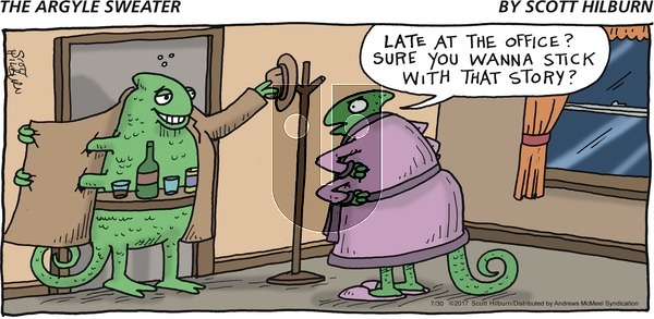 The Argyle Sweater on Sunday July 30, 2017 Comic Strip