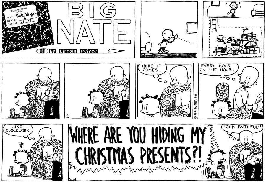 Big Nate Comic Strip for December 18, 1994