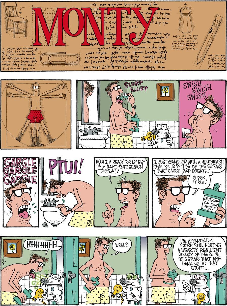 Monty Comic Strip for April 21, 2019