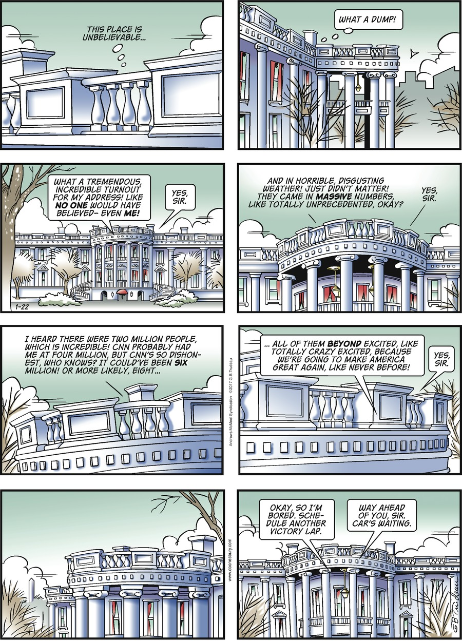 Doonesbury for Jan 22, 2017 Comic Strip