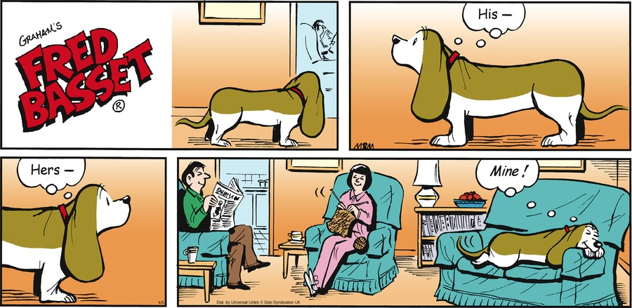 Fred Basset Comic Strip for April 05, 2015
