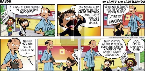 Baldo on Sunday November 11, 2007 Comic Strip