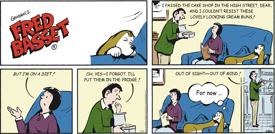 Fred Basset Comic Strip for November 29, 2020