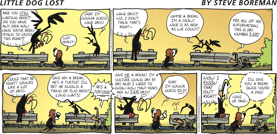 Little Dog Lost Comic Strip for May 25, 2014