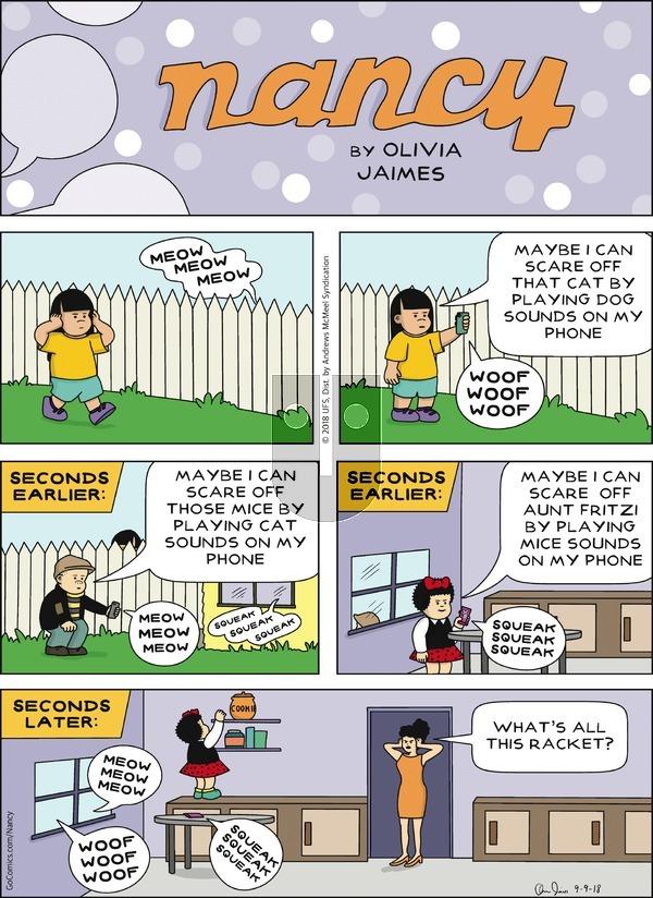 Nancy on Sunday September 9, 2018 Comic Strip