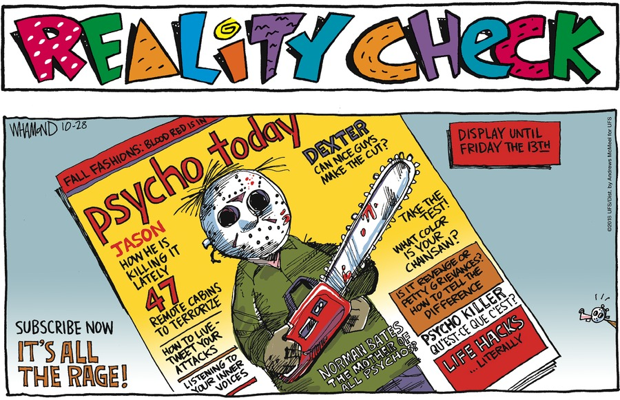 Reality Check Comic Strip for October 28, 2018
