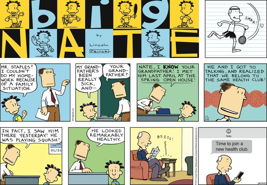 Big Nate Comic Strip for November 26, 2017