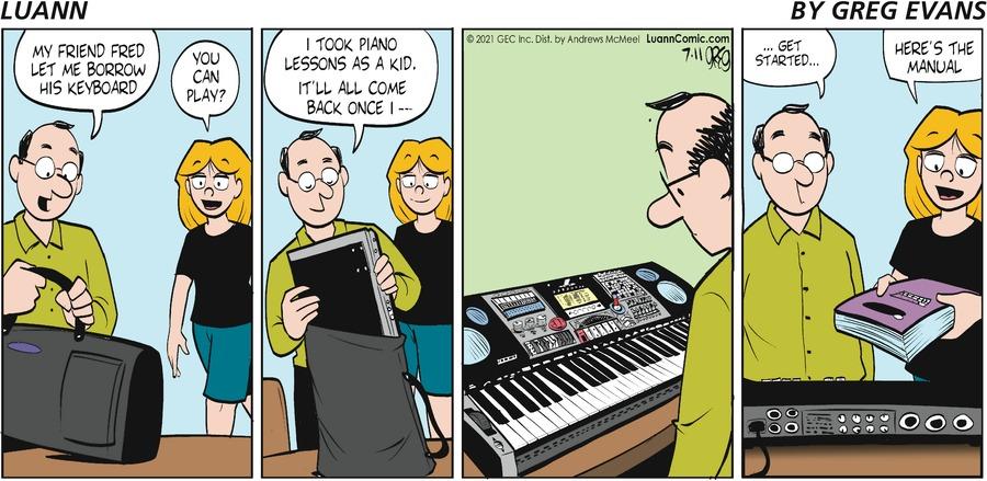Luann Comic Strip for July 11, 2021