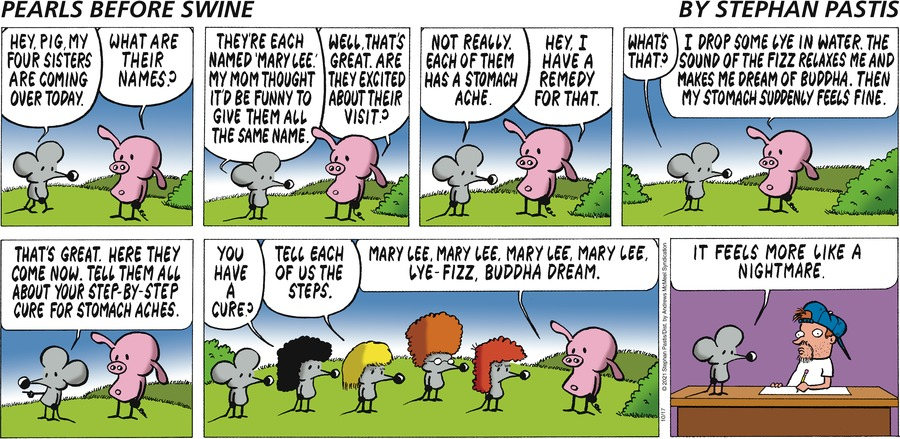 Pearls Before Swine by Stephan Pastis on Sun, 17 Oct 2021