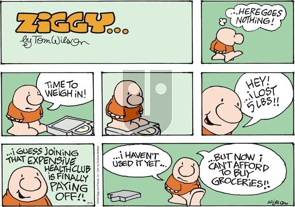 Ziggy on Sunday August 16, 2020 Comic Strip