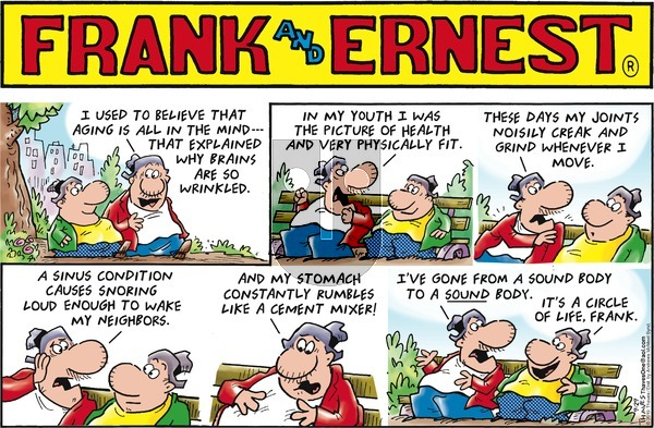 Frank and Ernest on Sunday September 29, 2019 Comic Strip