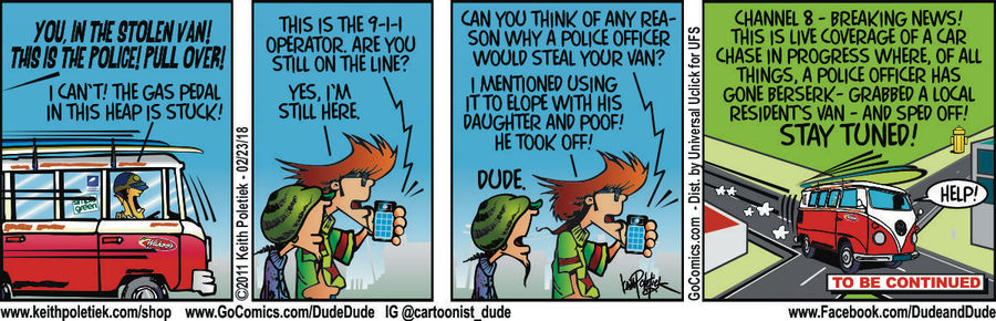 Dude and Dude for Feb 23, 2018 Comic Strip