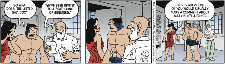 Alley Oop Comic Strip for February 22, 2021