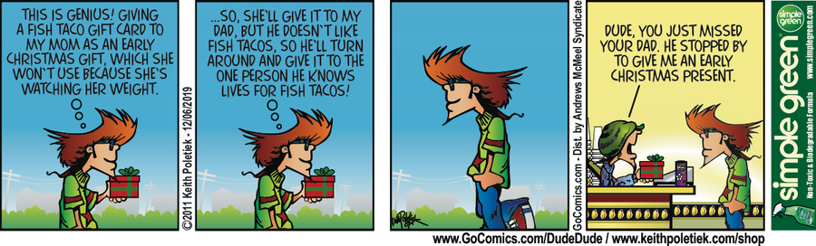 Dude and Dude Comic Strip for December 06, 2019