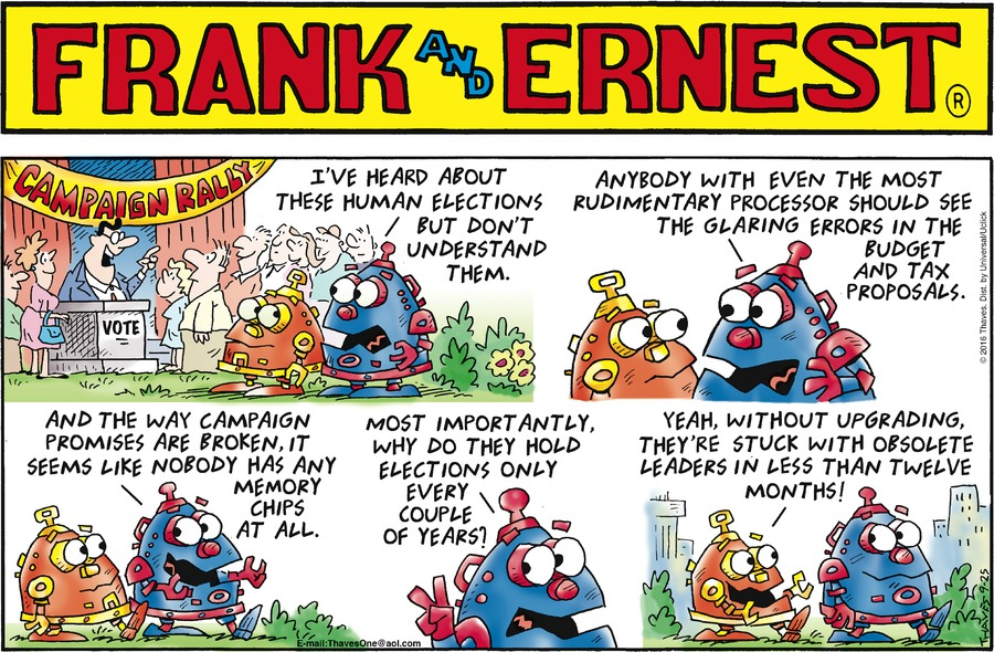 Frank and Ernest for Sep 25, 2016 Comic Strip