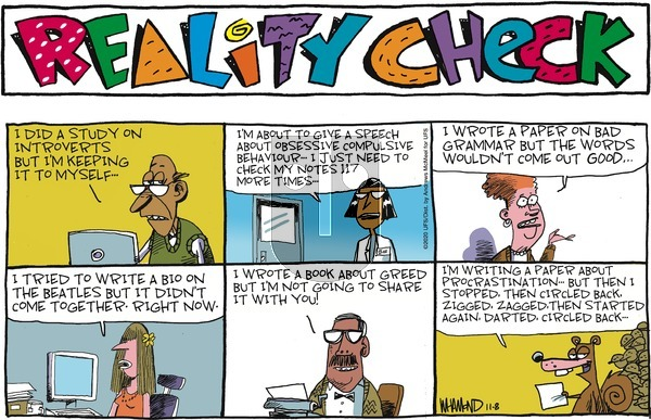 Reality Check on Sunday November 8, 2020 Comic Strip