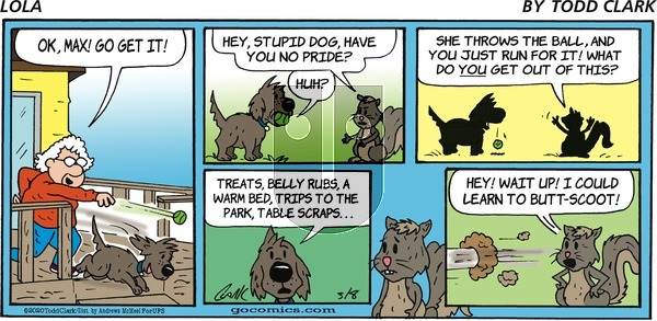 Lola on Sunday March 8, 2020 Comic Strip