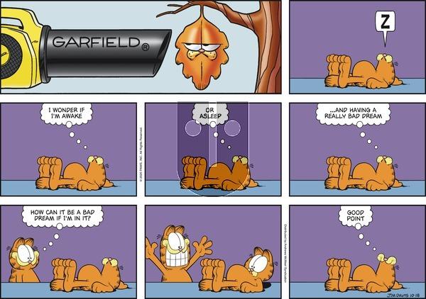 Garfield - Sunday October 18, 2020 Comic Strip