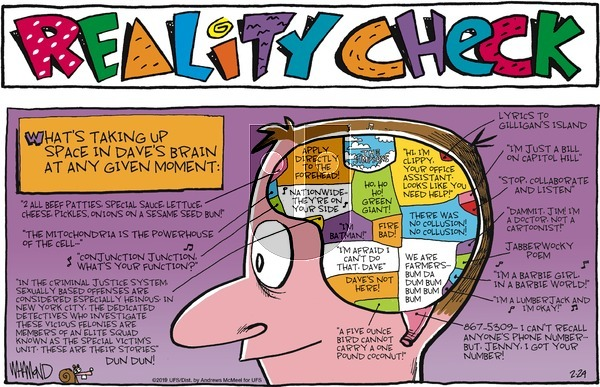 Reality Check on Sunday February 24, 2019 Comic Strip