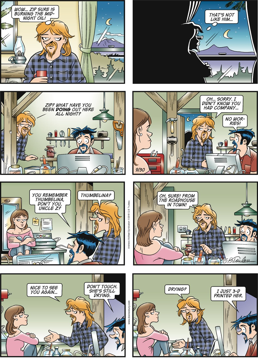 Doonesbury Comic Strip for September 30, 2018