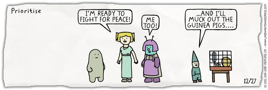 Lard's World Peace Tips Comic Strip for December 27, 2015