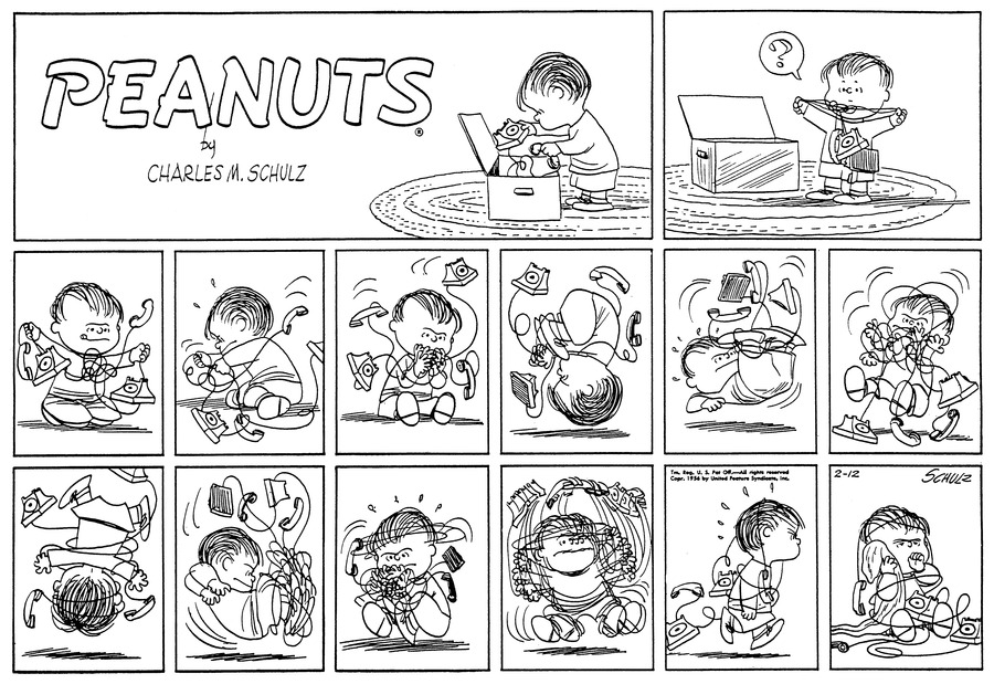 Peanuts for Feb 12, 1956 Comic Strip