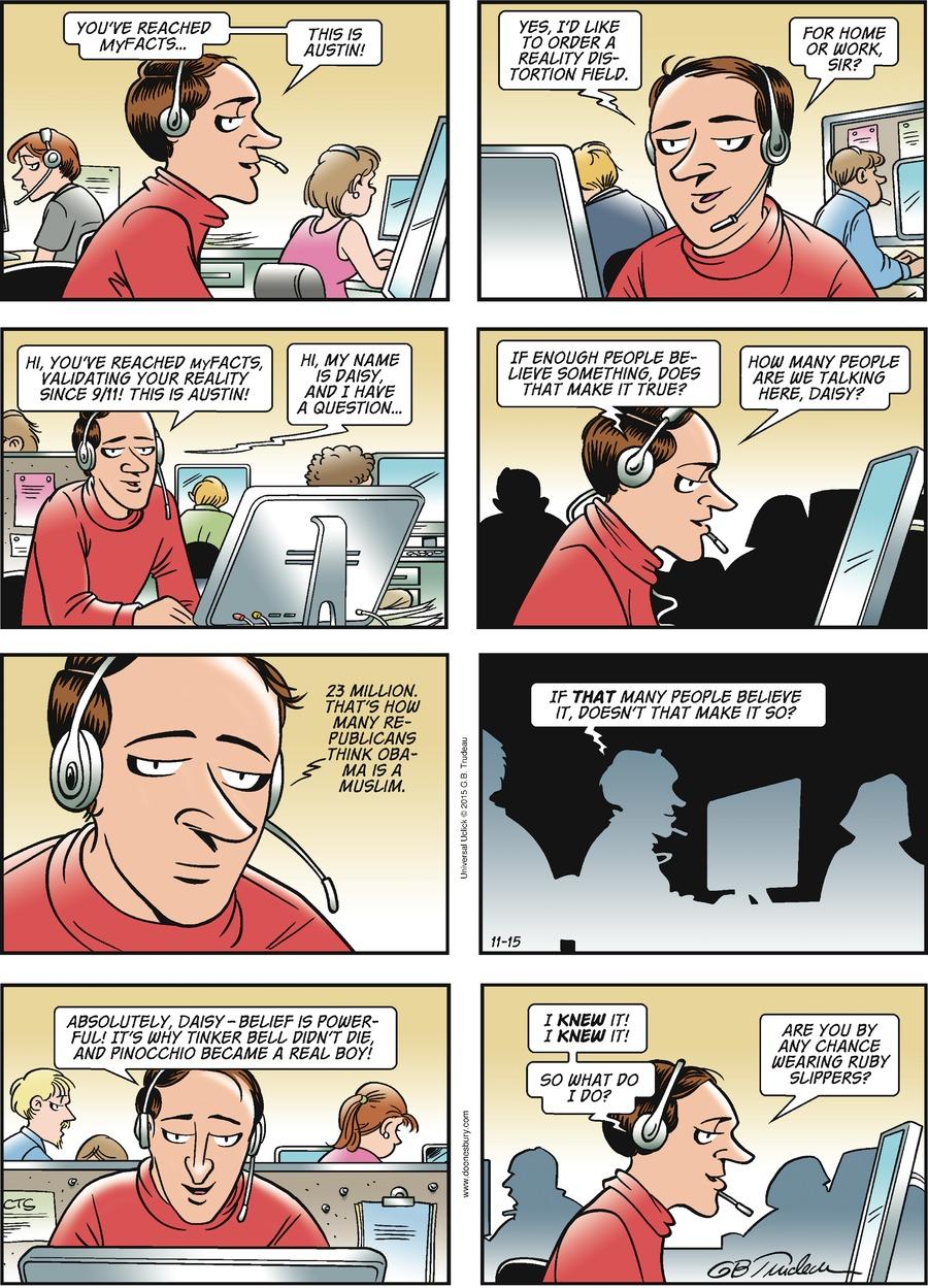Doonesbury Comic Strip for November 15, 2015