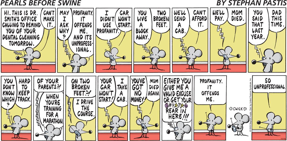 Pearls Before Swine Comic Strip for November 15, 2009