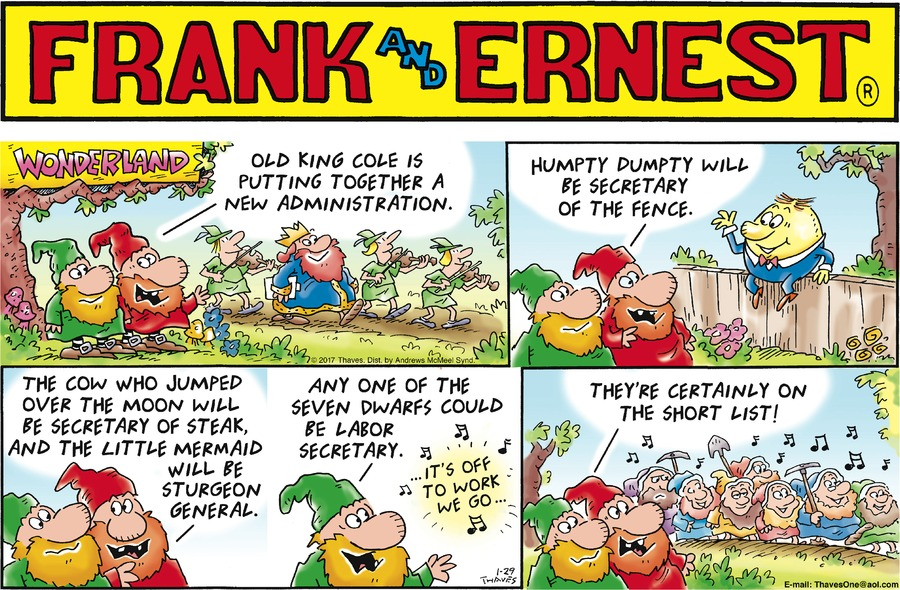 Frank and Ernest for Jan 29, 2017 Comic Strip