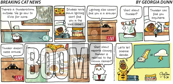 Breaking Cat News on September 30, 2018 Comic Strip