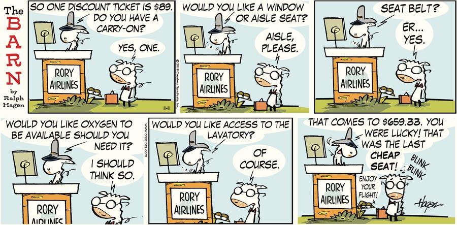 The Barn Comic Strip for November 11, 2018