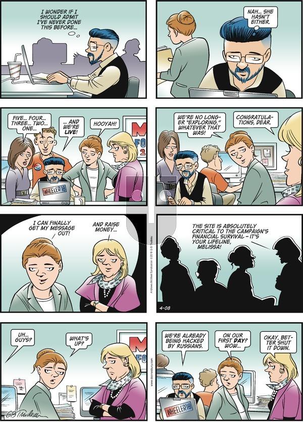 Doonesbury on Sunday April 8, 2018 Comic Strip