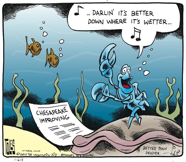 Sebastian: ...Darlin' it's better down where it's wetter...