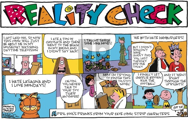 Reality Check on Sunday April 1, 2018 Comic Strip