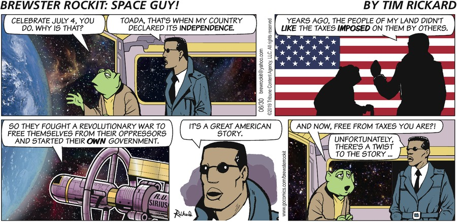 Brewster Rockit Comic Strip for June 30, 2019