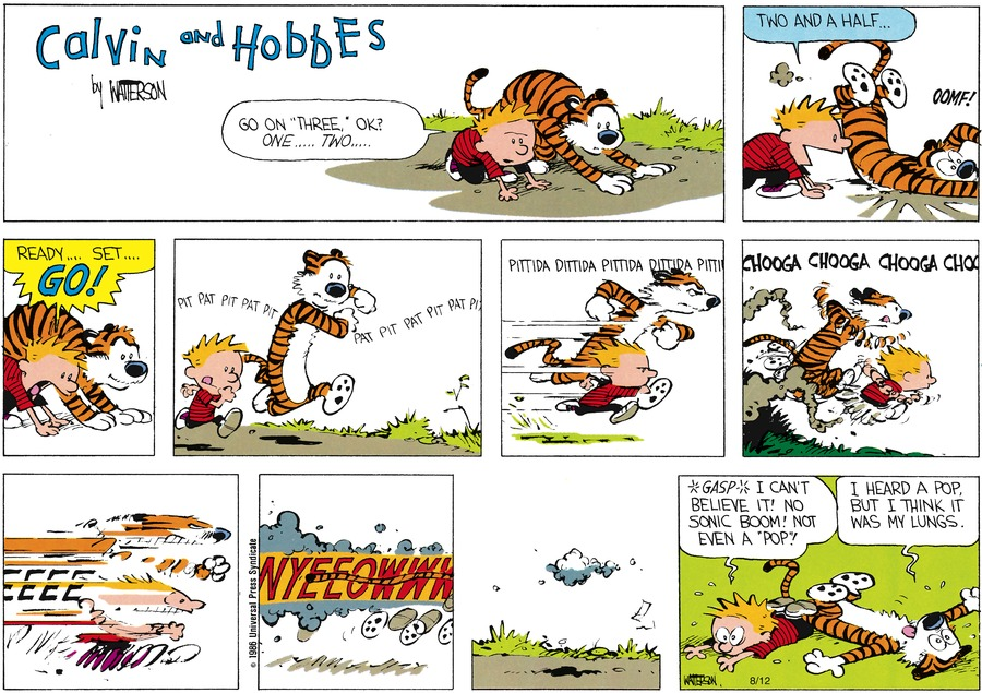 Calvin and Hobbes Comic Strip for August 10, 1986