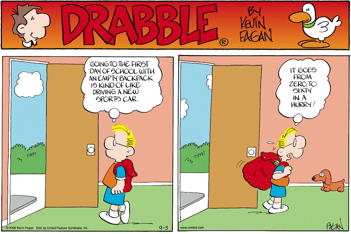 Drabble for Sep 3, 2006 Comic Strip