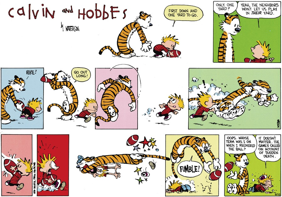Calvin and Hobbes Comic Strip for October 28, 1990
