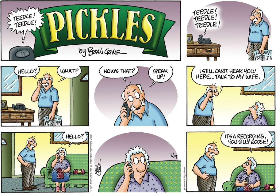 Pickles for Aug 24, 2014 Comic Strip