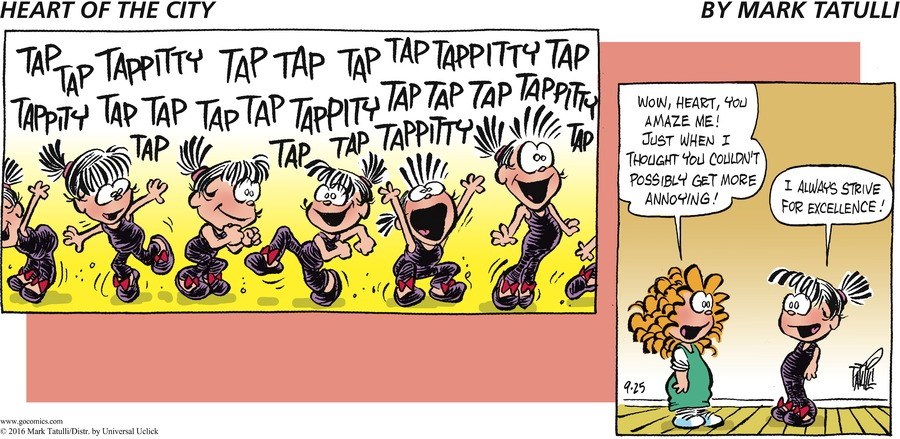Heart of the City for Sep 25, 2016 Comic Strip