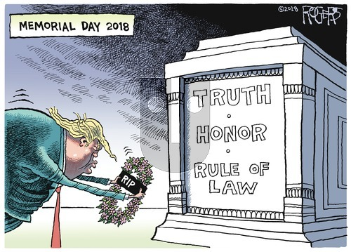 Rob Rogers on Sunday May 27, 2018 Comic Strip