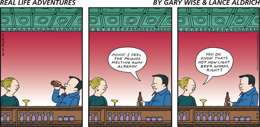 Real Life Adventures by Gary Wise and Lance Aldrich for March 17, 2019