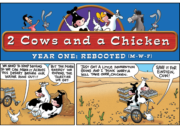 2 Cows and a Chicken for Jul 17, 2013 Comic Strip