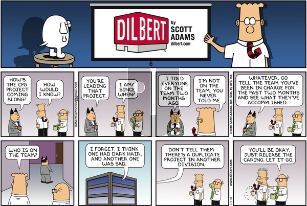 Dilbert on Sunday April 4, 2010 Comic Strip