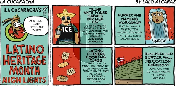 La Cucaracha on Sunday October 15, 2017 Comic Strip
