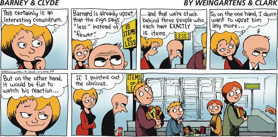 Barney & Clyde for Feb 17, 2013 Comic Strip