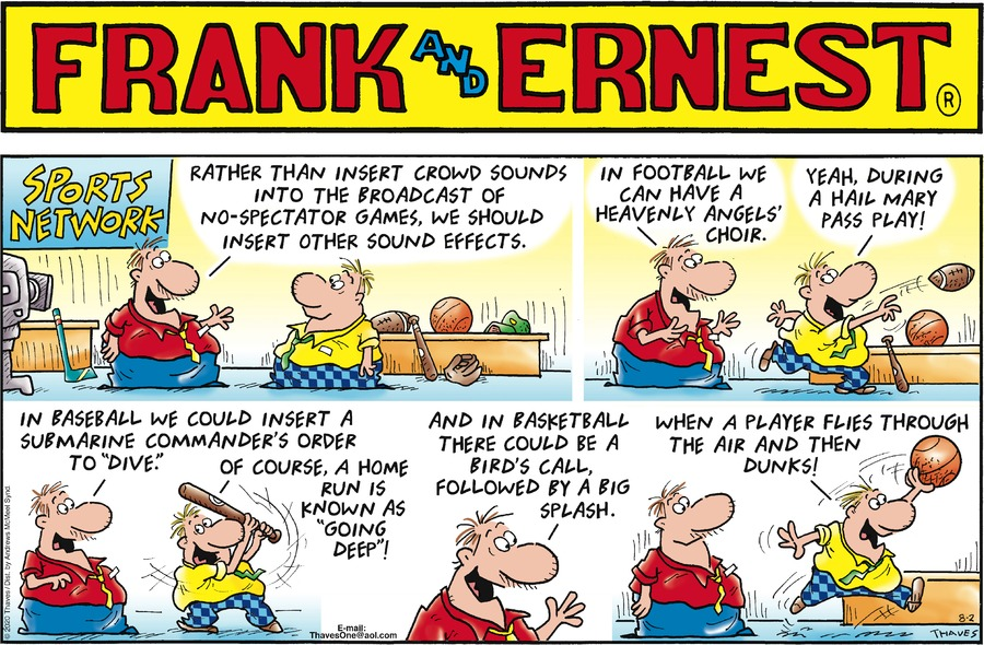 Frank and Ernest Comic Strip for August 02, 2020