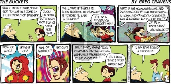The Buckets on Sunday July 17, 2016 Comic Strip
