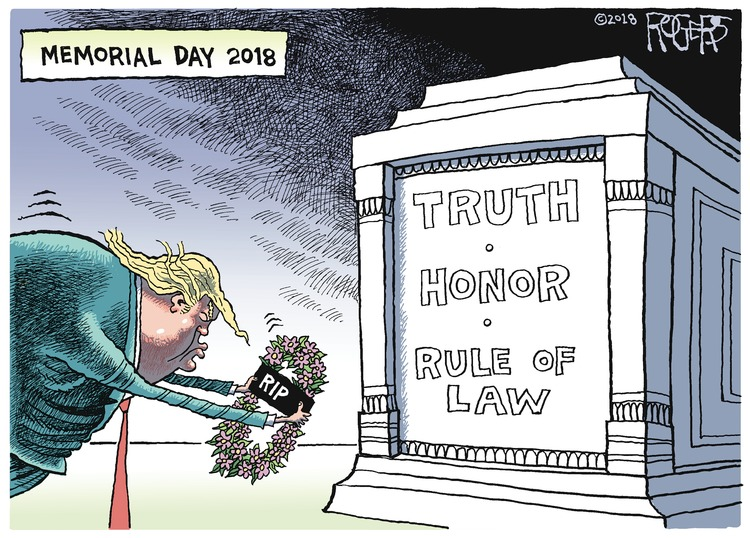 Rob Rogers for May 27, 2018 Comic Strip